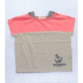 3b3638b6e7c06 ラッドチャンプ RADCHAP Tシャツ 半袖 110cm グレー ピンク系 ワンコイン トップス キッズ 女の子 女子