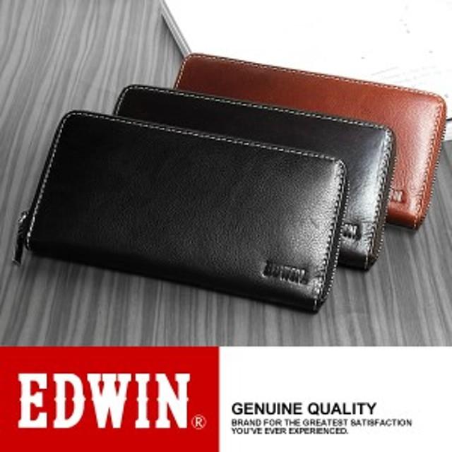 【EDWIN】【エドウィン】 メンズ 長財布 ラウンドファスナー 本牛革 レザー ウォレット 0510428 ブランド サイフ 【財布】