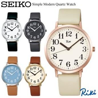 SEIKO ALBA セイコー Riki リキ クオーツ腕時計 ユニセックス デザインウォッチ カーブ無機ガラス 牛皮革ベルト ブランド シンプル 3針 R