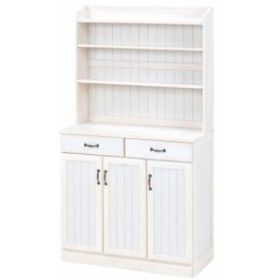 (KITCHEN)キッチンカウンター (ホワイト) (MUD-6533WS) (送料無料)(食器棚、シェルフ、キャビネット、キッチンラック、キッ