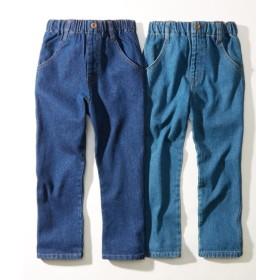 デニムストレートパンツ2枚組(男の子。女の子 子供服。ジュニア服) パンツ