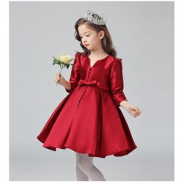 ab8d84c186407 子供ドレス 長袖 フォーマル ピアノ発表会 格安衣装 結婚式 キッズ フォーマルワンピース 卒業子供
