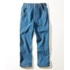 綿100%デニムストレートパンツ(男の子。女の子 子供服。ジュニア服) パンツ
