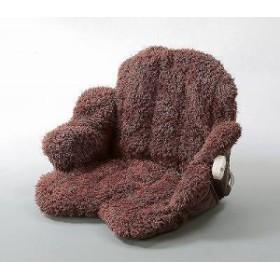 ヒーター付座れる毛布 ブラウン (送料無料)(座布団、クッション、あったか、椅子・チェアー備品敷物、ラグ)goto-8155373