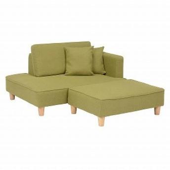 ソファーセット ソレラGR グリーン (送料無料)(ソファー、リビングチェアー、椅子、イス、チェアー)