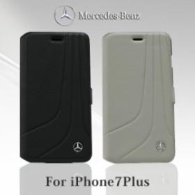c901dad243 エアージェイ メルセデス ベンツ 公式ライセンス品 iPhone7Plusケース 手帳型 本革 アイフォン7プラス