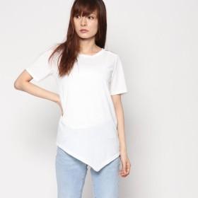 スタイルブロック STYLEBLOCK 肩あき半袖Tシャツカットソー (ホワイト)