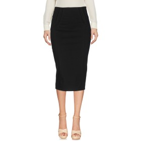 《期間限定 セール開催中》ERMANNO DI ERMANNO SCERVINO レディース 7分丈スカート ブラック 40 コットン 95% / ポリウレタン 5%