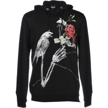 《期間限定セール開催中!》JUST CAVALLI メンズ スウェットシャツ ブラック XL コットン 100%