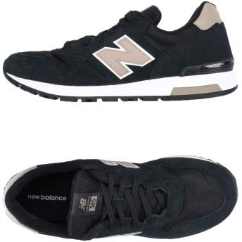 《セール開催中》NEW BALANCE メンズ スニーカー&テニスシューズ(ローカット) ブラック 7.5 革 / 紡績繊維 565 SUEDE/MESH