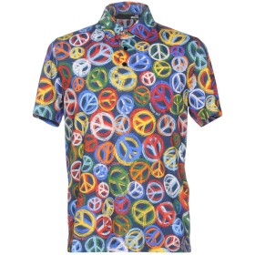 《期間限定セール開催中!》LOVE MOSCHINO メンズ ポロシャツ ダークブルー S コットン 100%