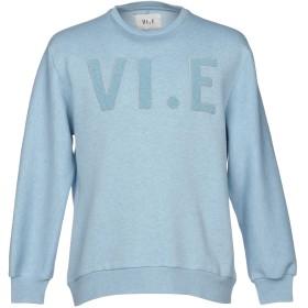 《期間限定 セール開催中》VI.E SIX EDGES メンズ スウェットシャツ スカイブルー S コットン 100%
