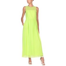 《セール開催中》BLUE LES COPAINS レディース ロングワンピース&ドレス ビタミングリーン 42 100% ポリエステル コットン