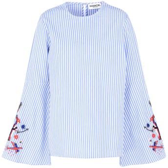 《期間限定セール開催中!》ESSENTIEL ANTWERP レディース ブラウス ブルー 38 コットン 100% Paradise long sleeved shirt