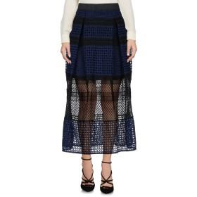 《セール開催中》SELF-PORTRAIT レディース 7分丈スカート ブルー 8 100% ポリエステル