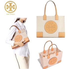 Qoo10クーポン使えます♪ TORY BURCH ☆ ELLA CANVAS MINI TOTE