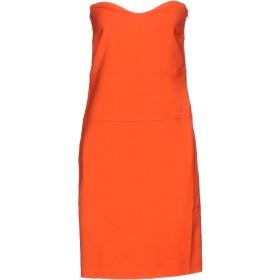 《セール開催中》HOTEL PARTICULIER レディース ミニワンピース&ドレス オレンジ L レーヨン 95% / ポリウレタン 5%