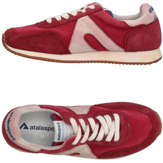 《セール開催中》ATALASPORT メンズ スニーカー&テニスシューズ(ローカット) ガーネット 40 革 / 紡績繊維