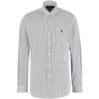 《期間限定 セール開催中》POLO RALPH LAUREN メンズ シャツ ブラック S コットン 100% Slim Fit Cotton Poplin Shirt