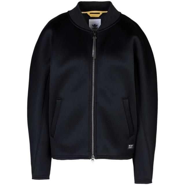 《期間限定セール開催中!》ADIDAS ORIGINALS レディース スウェットシャツ ブラック 40 コットン 60% / ポリエステル 40% BONDED TT