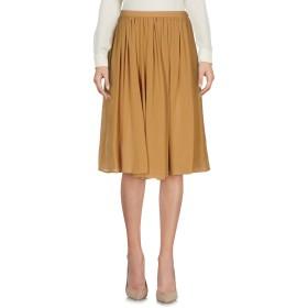 《9/20まで! 限定セール開催中》BOULE DE NEIGE レディース ひざ丈スカート キャメル 40 コットン 100%