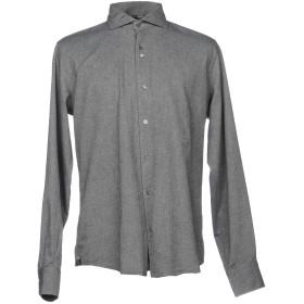 《期間限定 セール開催中》DU4 メンズ シャツ グレー 41 コットン 100%
