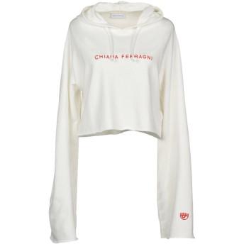 《セール開催中》CHIARA FERRAGNI レディース スウェットシャツ ホワイト M コットン 100%