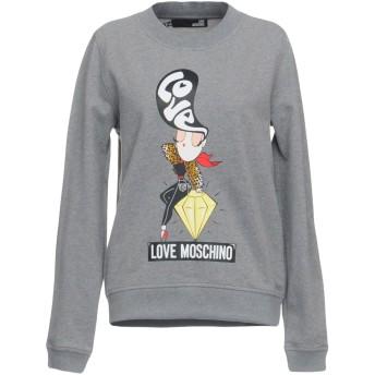 《期間限定セール開催中!》LOVE MOSCHINO レディース スウェットシャツ ライトグレー 40 コットン 97% / ポリウレタン 3%