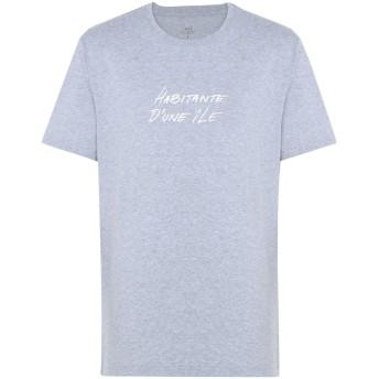 《期間限定セール開催中!》MAKIA メンズ T シャツ ライトグレー S コットン 100% HABITANT T-SHIRT