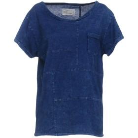 《9/20まで! 限定セール開催中》CURRENT/ELLIOTT レディース T シャツ ブルー 0 コットン 100%