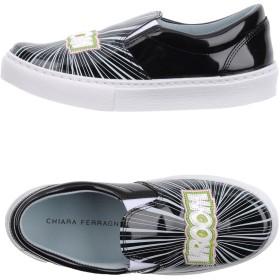 《送料無料》CHIARA FERRAGNI レディース スニーカー&テニスシューズ(ローカット) ブラック 36 紡績繊維