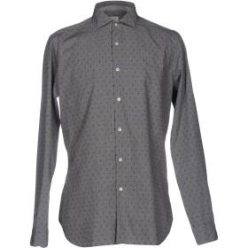 《期間限定セール開催中!》CALIBAN メンズ シャツ グレー 43 100% コットン