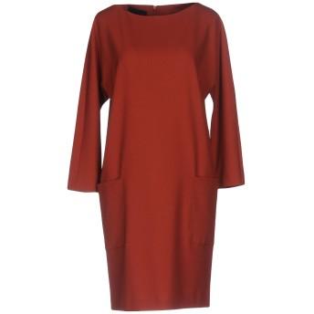 《9/20まで! 限定セール開催中》BLUE LES COPAINS レディース ミニワンピース&ドレス 赤茶色 42 53% ポリエステル 43% ウール 4% ポリウレタン