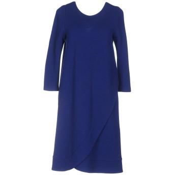 《セール開催中》ARMANI COLLEZIONI レディース ミニワンピース&ドレス ブルー 36 ウール 42% / アクリル 42% / ナイロン 16% / レーヨン / ポリエステル