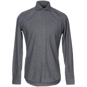 《期間限定 セール開催中》LIU JO MAN メンズ シャツ ブルーグレー 38 コットン 70% / ポリエステル 30%