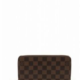 7fcfe9f8f364 ルイヴィトン LOUIS VUITTON 長財布 ダミエ エベヌ 茶色 ブラウン 小物 レザー N60015 ジッピーウォレット ラウンドフ