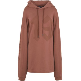 《9/20まで! 限定セール開催中》FENTY PUMA by RIHANNA レディース スウェットシャツ ブラウン 10 コットン 78% / ポリエステル 17% / ポリウレタン 5% LS GRAPHIC HOODY