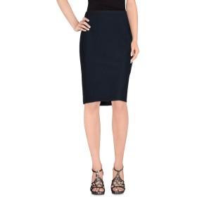 《期間限定 セール開催中》ARMANI COLLEZIONI レディース ひざ丈スカート ダークブルー 40 コットン 55% / ナイロン 35% / ポリウレタン 10%