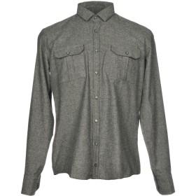 《期間限定セール開催中!》HAMAKI-HO メンズ シャツ グレー M コットン 70% / アクリル 20% / 指定外繊維 10%