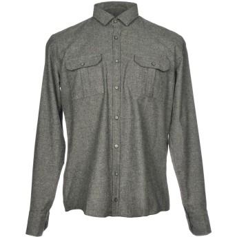 《セール開催中》HAMAKI-HO メンズ シャツ グレー M コットン 70% / アクリル 20% / 指定外繊維 10%