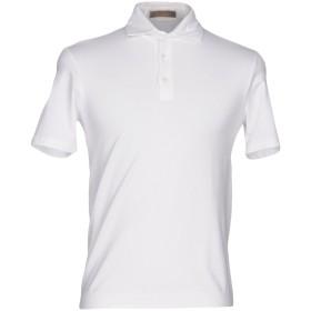 《セール開催中》CRUCIANI メンズ ポロシャツ ホワイト 54 コットン 92% / ポリウレタン 8%