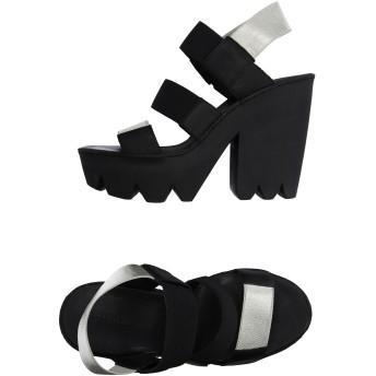 《セール開催中》VIC MATI レディース サンダル ブラック 40 革 / 紡績繊維