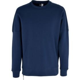 《セール開催中》ADIDAS メンズ スウェットシャツ ダークブルー S コットン 69% / ポリエステル 26% / ポリウレタン 5% ZNE CREW 2
