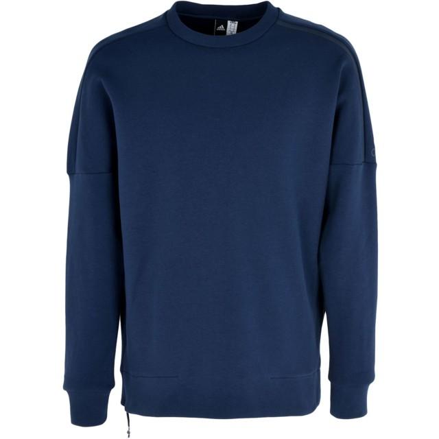《期間限定 セール開催中》ADIDAS メンズ スウェットシャツ ダークブルー S コットン 69% / ポリエステル 26% / ポリウレタン 5% ZNE CREW 2