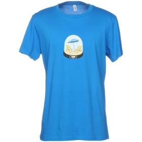 《期間限定セール開催中!》MOSCHINO メンズ T シャツ ブライトブルー L 100% コットン