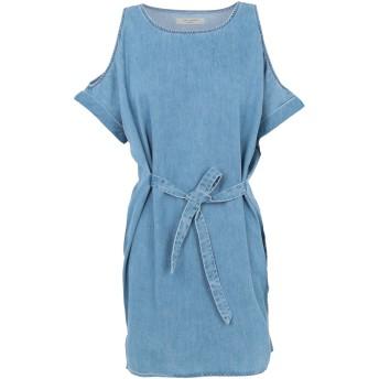 《期間限定セール開催中!》ALLSAINTS レディース ミニワンピース&ドレス ブルー L コットン 64% / 指定外繊維(テンセル) 36%