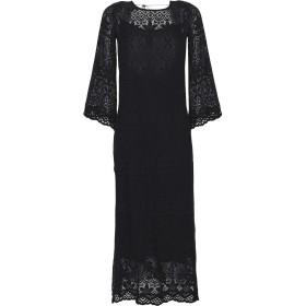 《期間限定セール開催中!》SOALLURE レディース ロングワンピース&ドレス ブラック XS コットン 100%