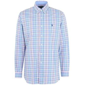 《期間限定 セール開催中》RALPH LAUREN メンズ シャツ スカイブルー S コットン 100% Core Fit Poplin Shirt