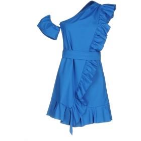 《期間限定 セール開催中》PINKO レディース ミニワンピース&ドレス ブルー 40 50% コットン 44% ナイロン 6% ポリウレタン