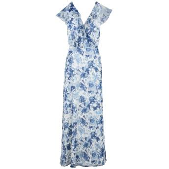 《セール開催中》POLO RALPH LAUREN レディース ロングワンピース&ドレス アジュールブルー 8 シルク 100% Floral Silk Wrap Dress